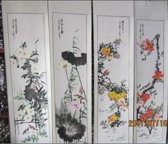 产品中心 四条屏画批发  字画批发南方翰林书画院提供全国性的国画